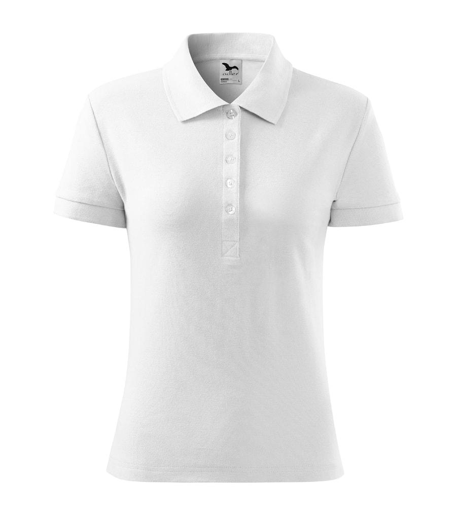 Dámská polokošile Cotton - Bílá   XL