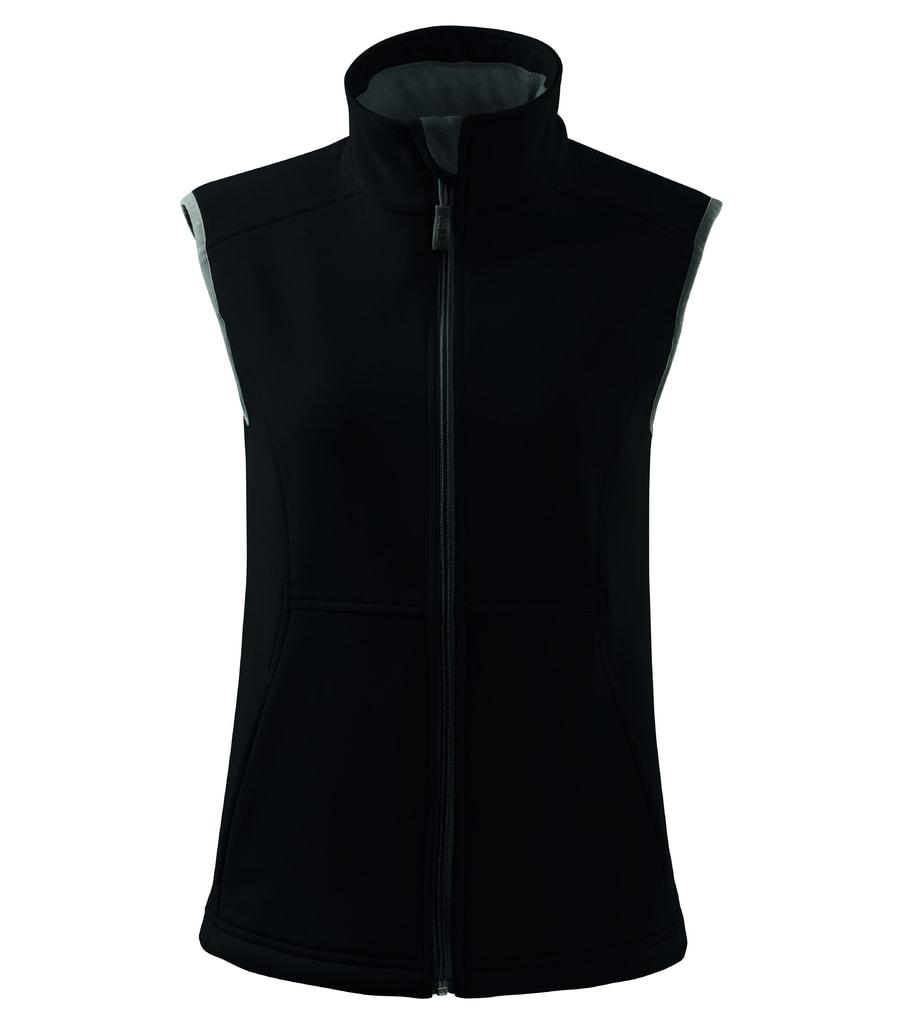 Dámská softshellová vesta Vision - Černá | XL