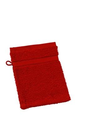 Myrtle Beach Umývacia froté žinka MB435 - Orientální červená | 15 x 21 cm