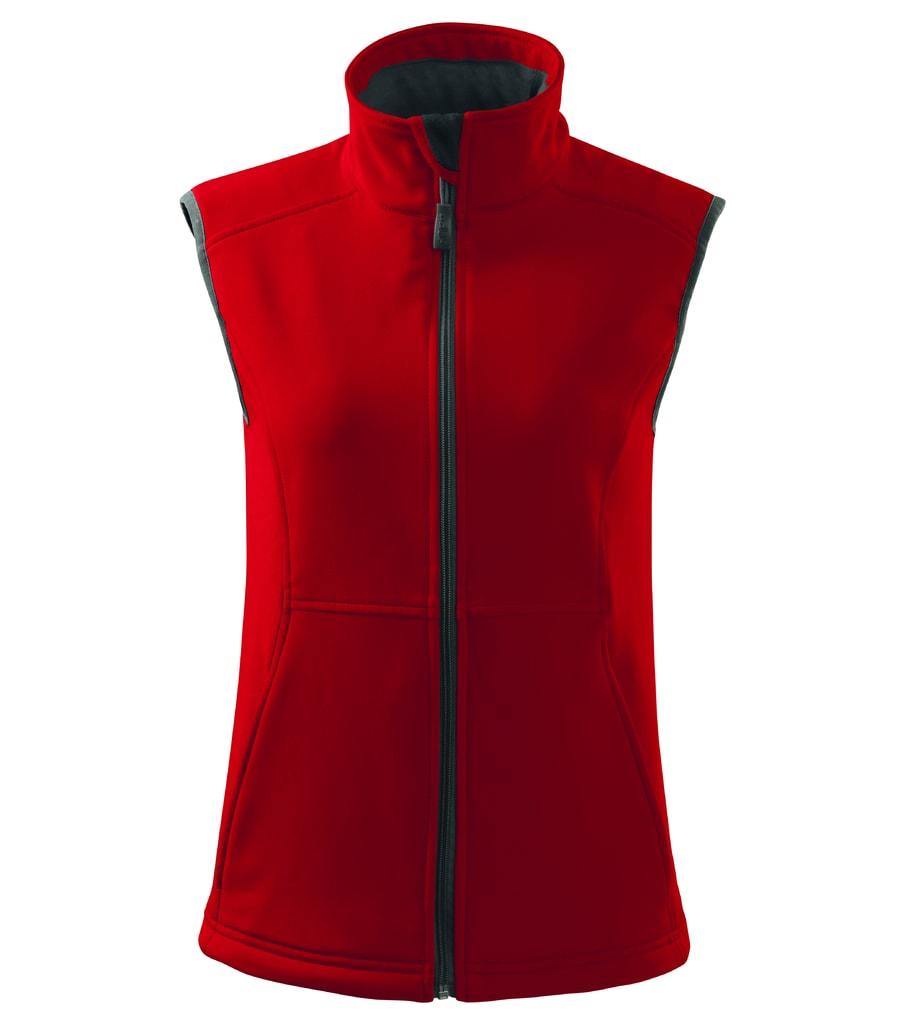 Dámská softshellová vesta Vision - Červená | XL