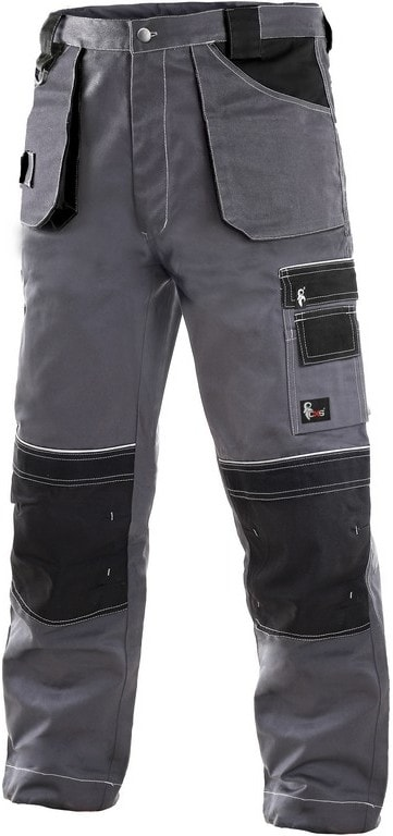 Zimní pracovní kalhoty do pasu ORION TEODOR - Šedá / černá | 46