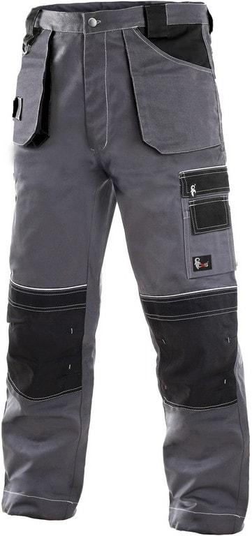 Zimní pracovní kalhoty do pasu ORION TEODOR - Šedá / černá | 50