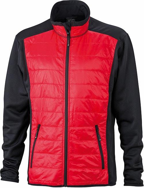 James & Nicholson Pánska športová bunda JN593 - Černá / červená / černá | XXXL