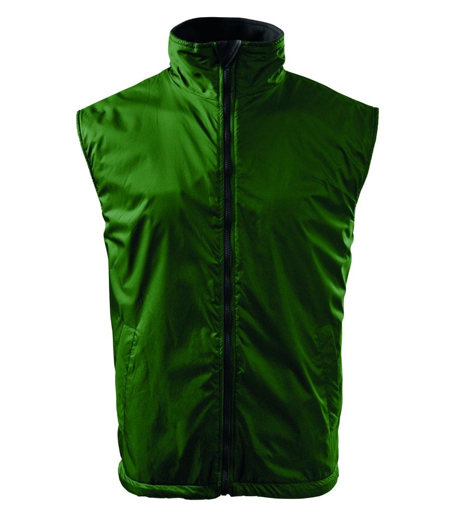 Pánská vesta Body Warmer - Lahvově zelená   S