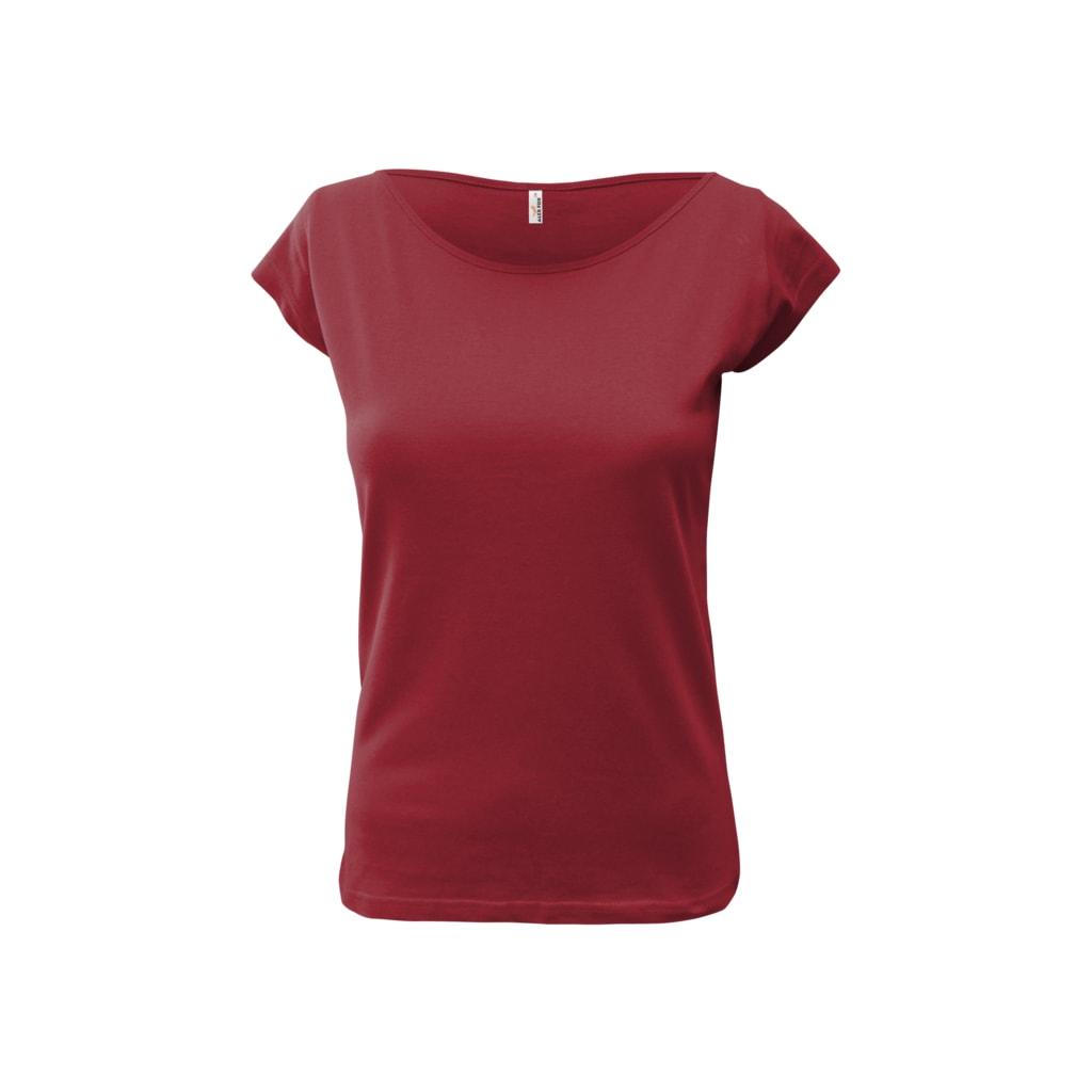 Dámské tričko Elegance - Vínová   S