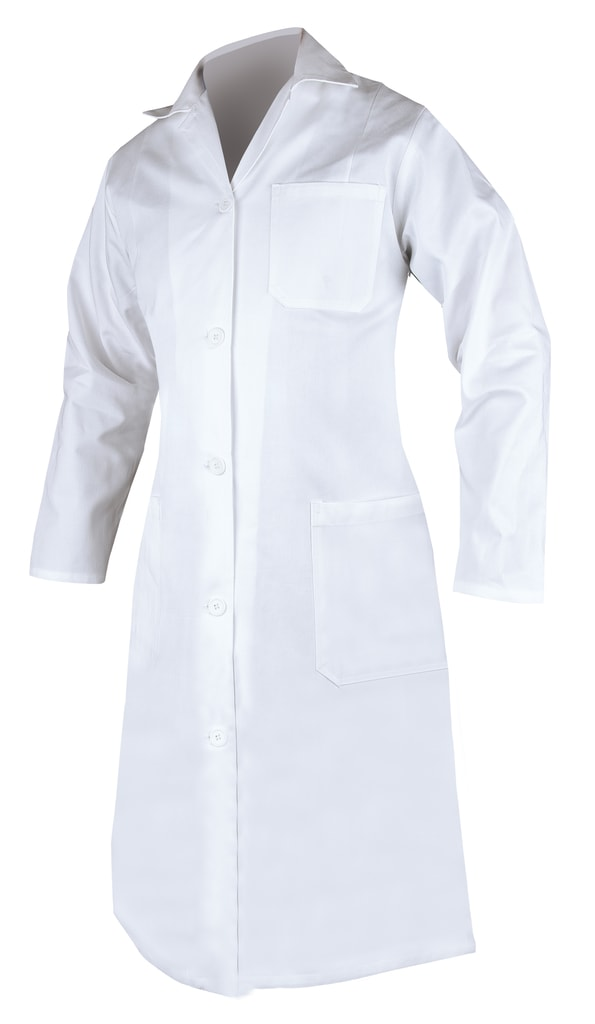 Dámský bavlněný plášť - Bílá | 52
