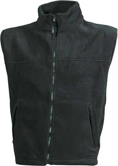 Pánská fleecová vesta JN045 - Tmavě šedá | XXXL