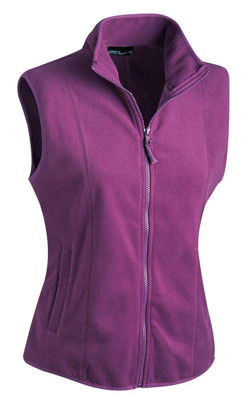 Dámská fleecová vesta JN048 - Fialová | XL