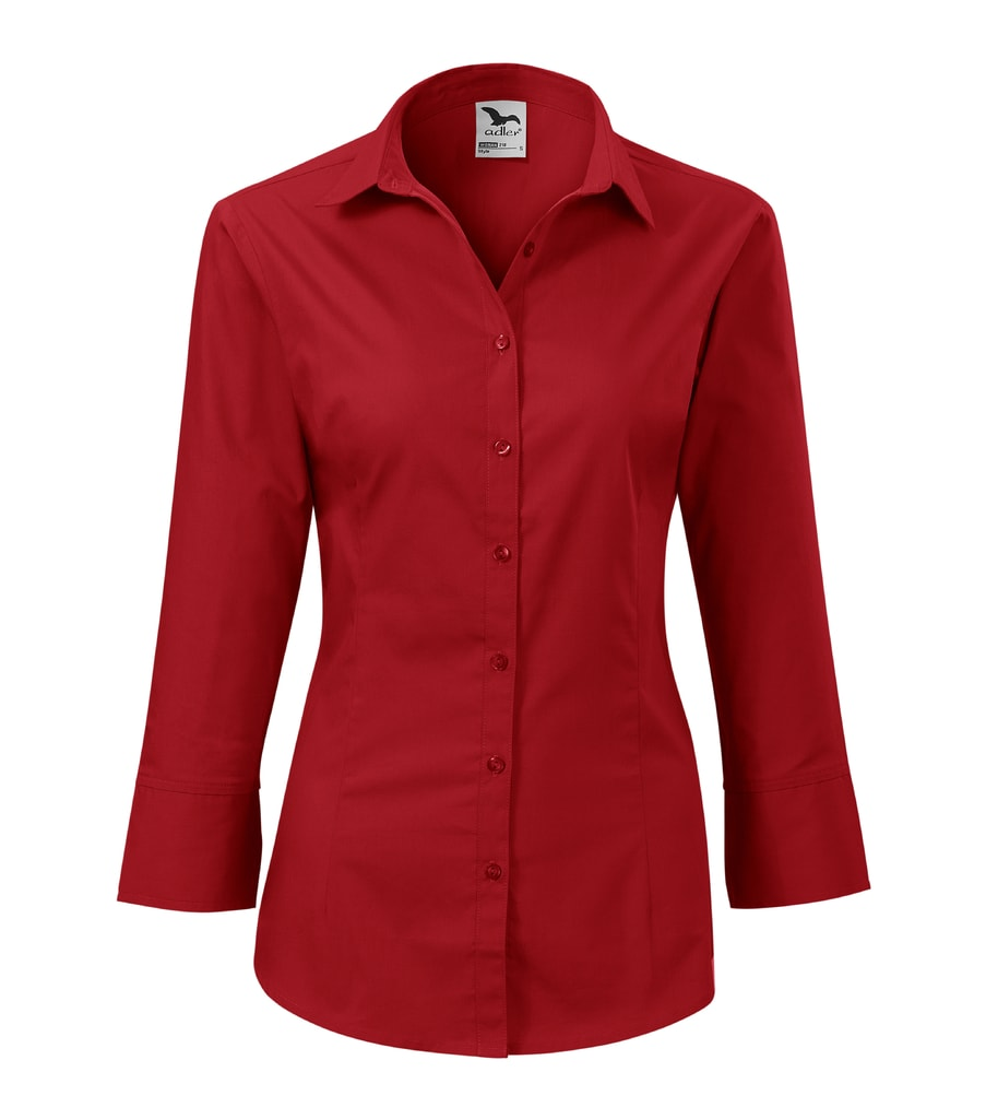 ... Dámská košile s tříčtvrtečním rukávem Style Červená. Velikost da9b129e3a