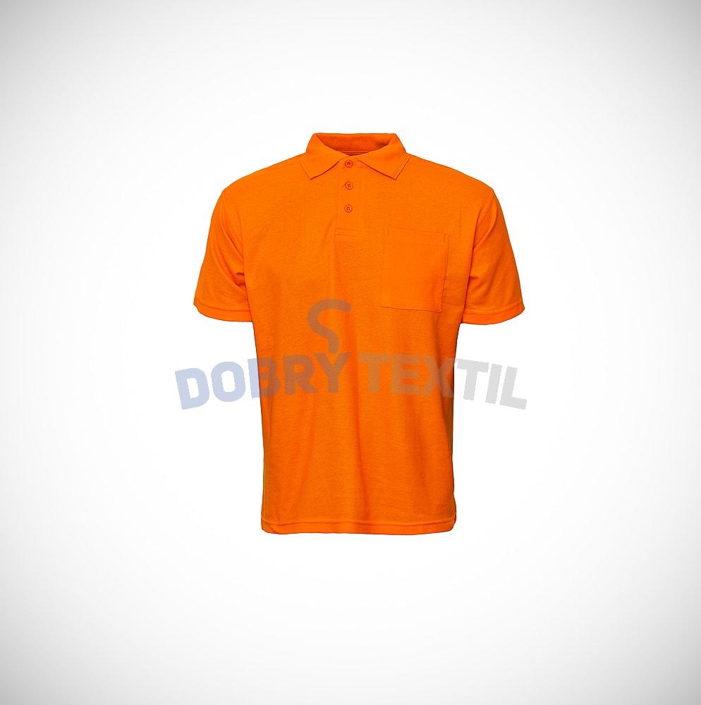 Pique pánská polokošile s kapsičkou - Oranžová   M