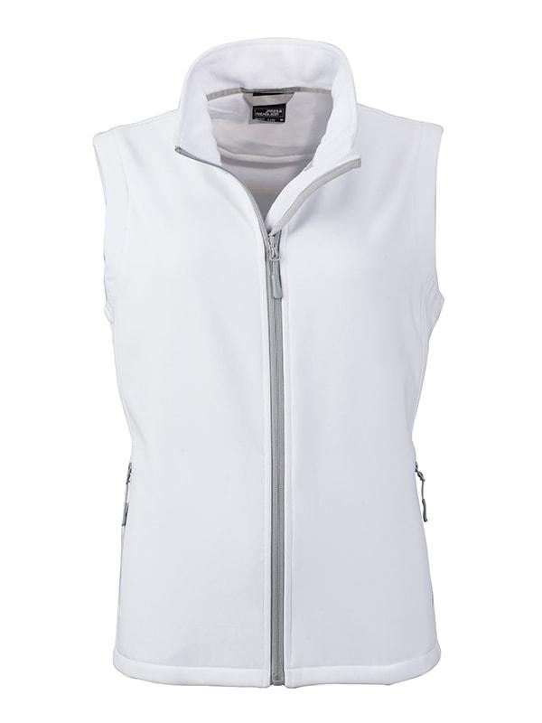 Dámská softshellová vesta JN1127 - Bílá / bílá | M