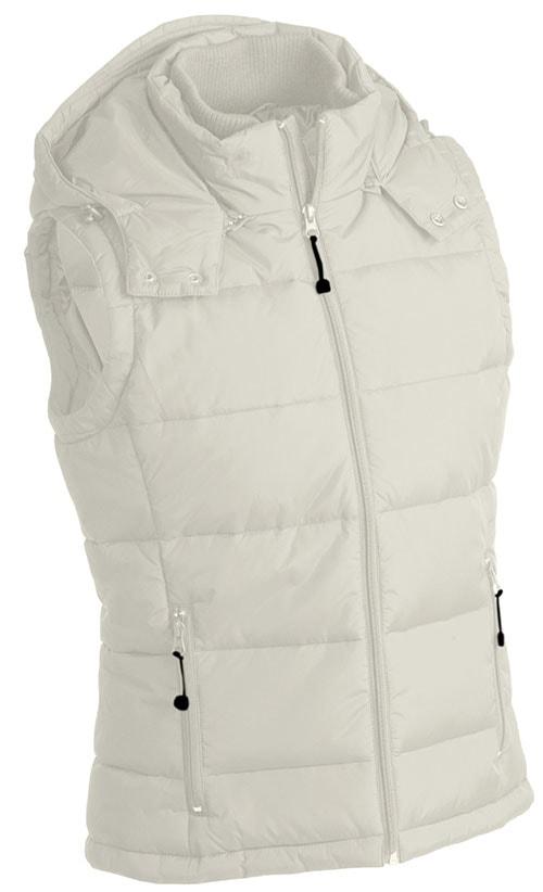 Pánská zimní vesta s kapucí JN1004 - Přírodní | XXL