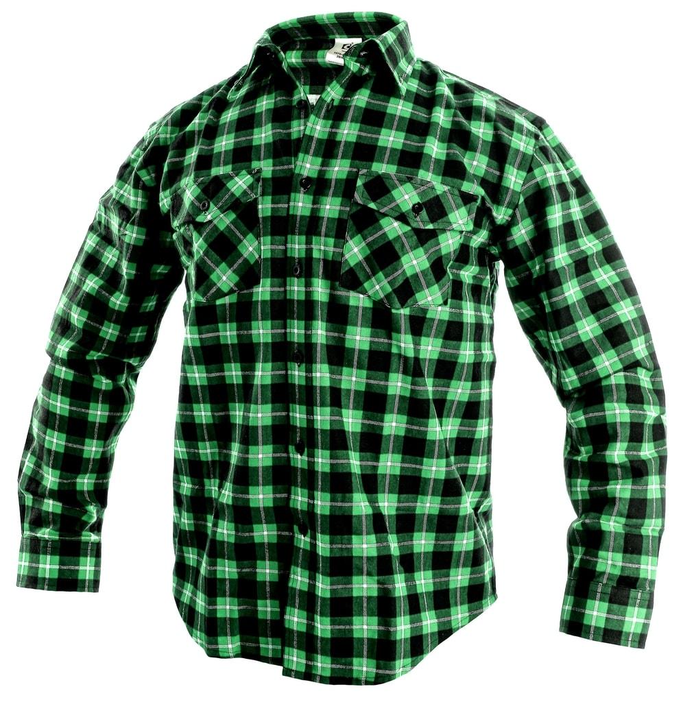 Pracovní flanelová košile TOM - Zelená | 43/44