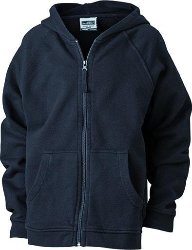 2fc43b207ef Dětská mikina na zip s kapucí JN059k - Černá