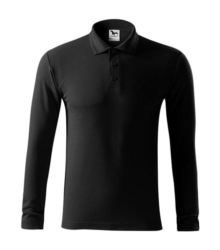 Pánská polokošile s dlouhým rukávem Pique Polo LS - Černá | L