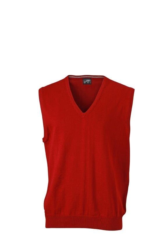 Pánský svetr bez rukávů JN657 - Bordeaux | XXXL