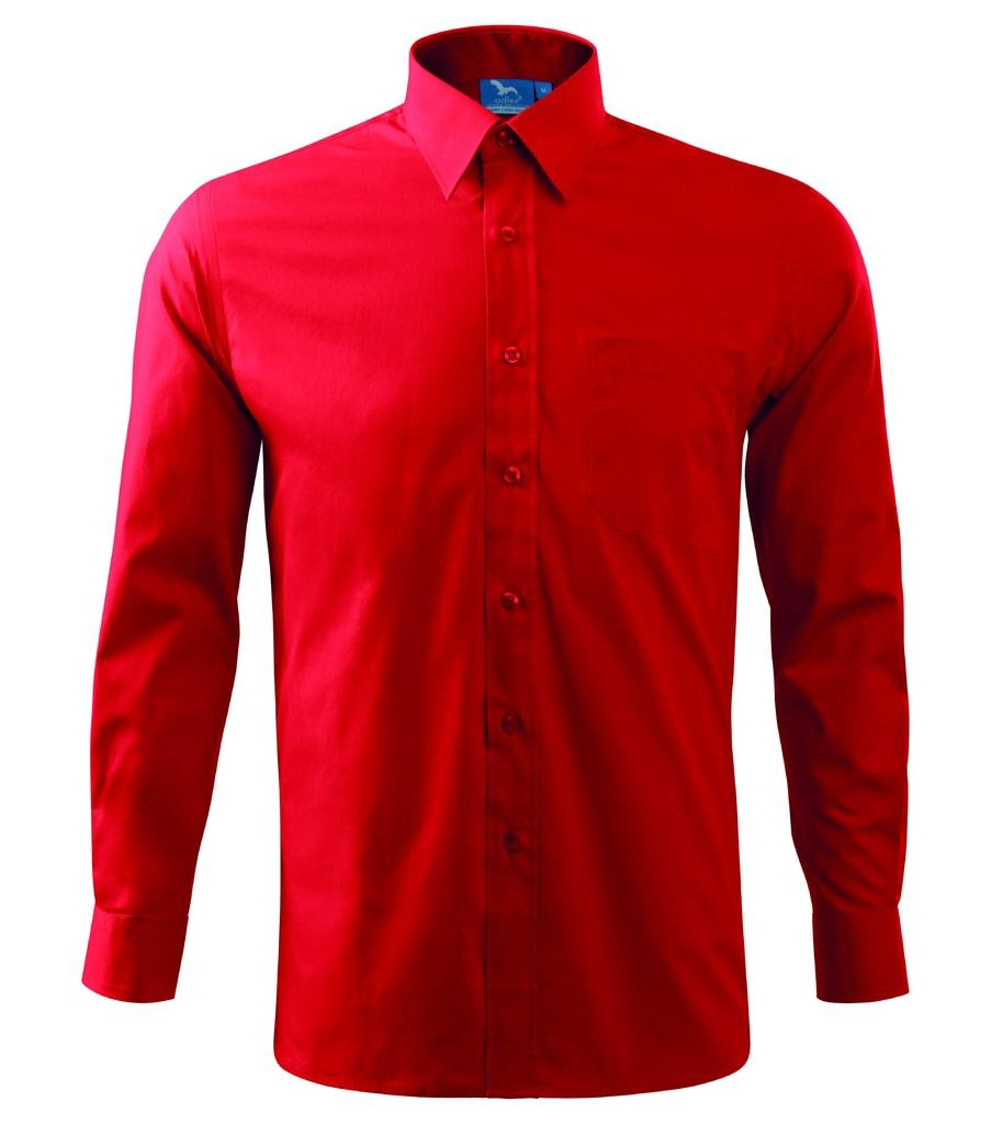 Pánská košile s dlouhým rukávem Adler - Červená   XXL
