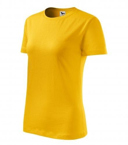 Dámské tričko Basic Adler - Žlutá | L