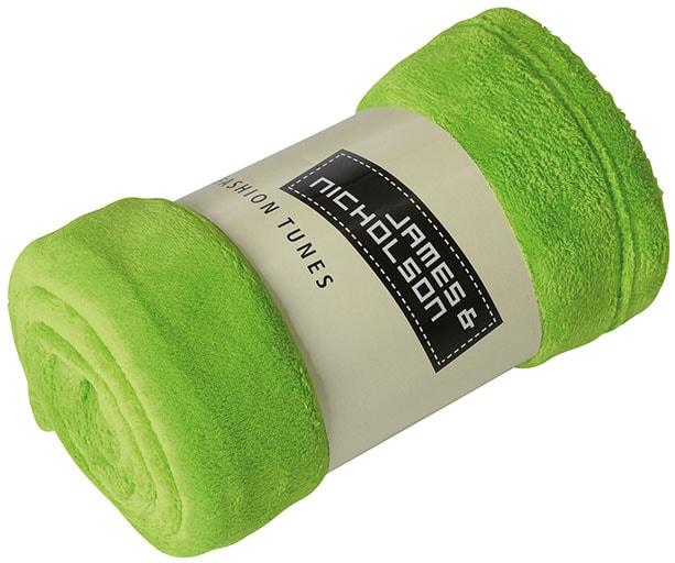 Fleecová deka 160x120 cm JN951 - Limetkově zelená | 160 x 120 cm
