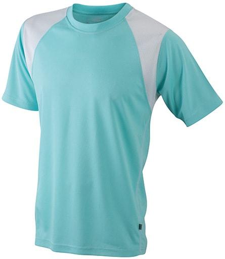 Dětské sportovní tričko s krátkým rukávem JN397k - Mátová / bílá | XL