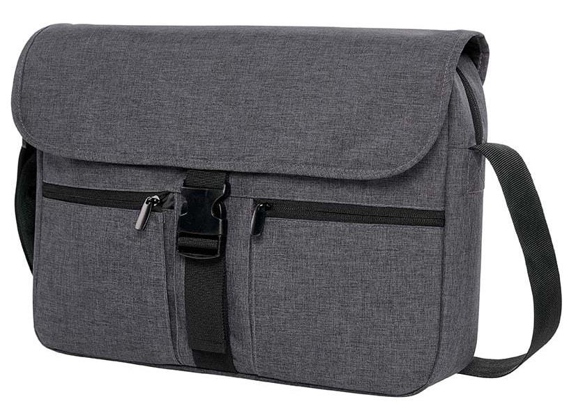 Moderní taška na notebook FASHION - Šedá kropenatá