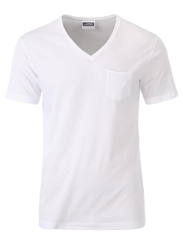 Pánské tričko z biobavlny 8004 - Bílá | M