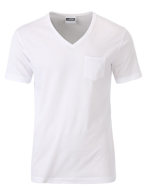Pánské tričko z biobavlny 8004 - Bílá | XXL