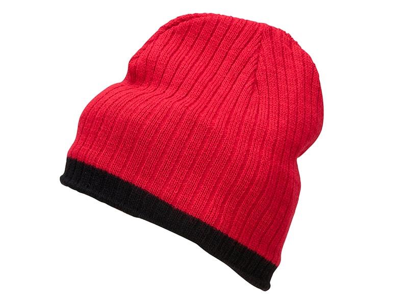 Zimní čepice MB7102 - Červená / černá