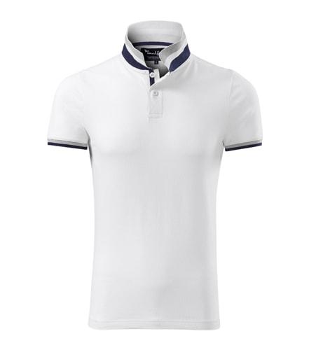 Pánská bavlněná polokošile Collar Up Bílá  b2db7dfc70