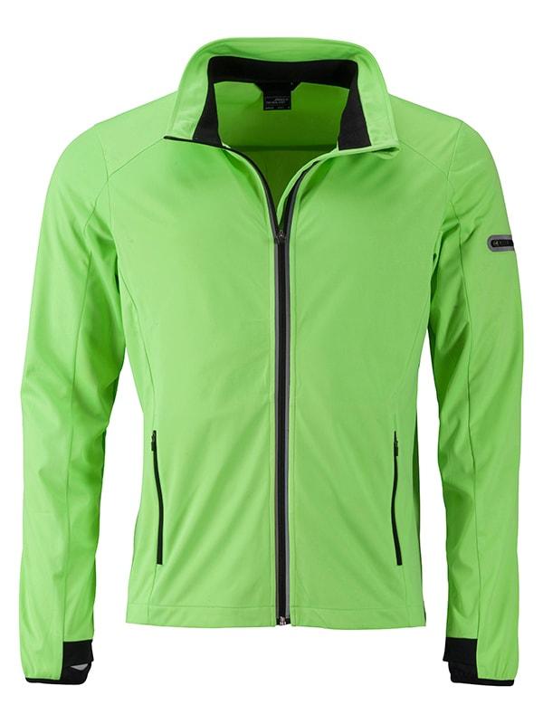 Pánská sportovní softshellová bunda JN1126 - Jasně zelená / černá | L