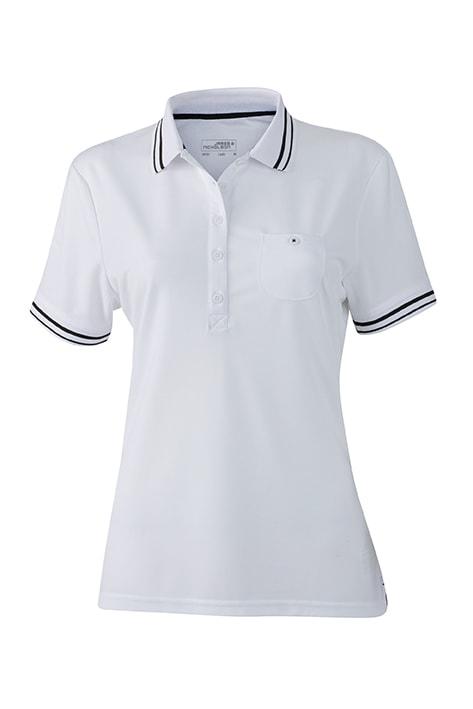 Dámská sportovní polokošile JN701 - Bílá / černá | L