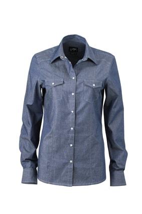 Dámská džínová košile JN628 - Světle džínová | L