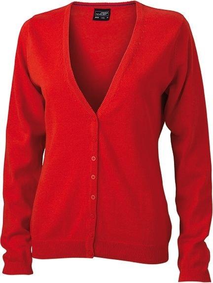 Dámský bavlněný svetr JN660 - Tmavě oranžová | L