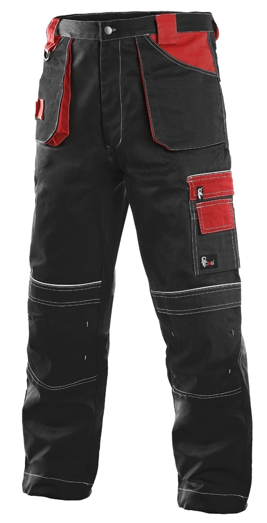 Montérkové kalhoty ORION TEODOR - Černá / červená | 50
