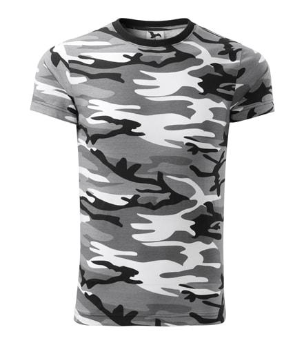 Pánské maskáčové tričko Adler - Maskáčová šedá | S