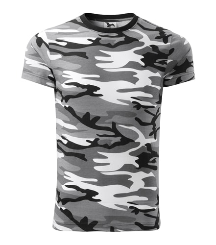 Pánské maskáčové tričko Adler - Maskáčová šedá | M