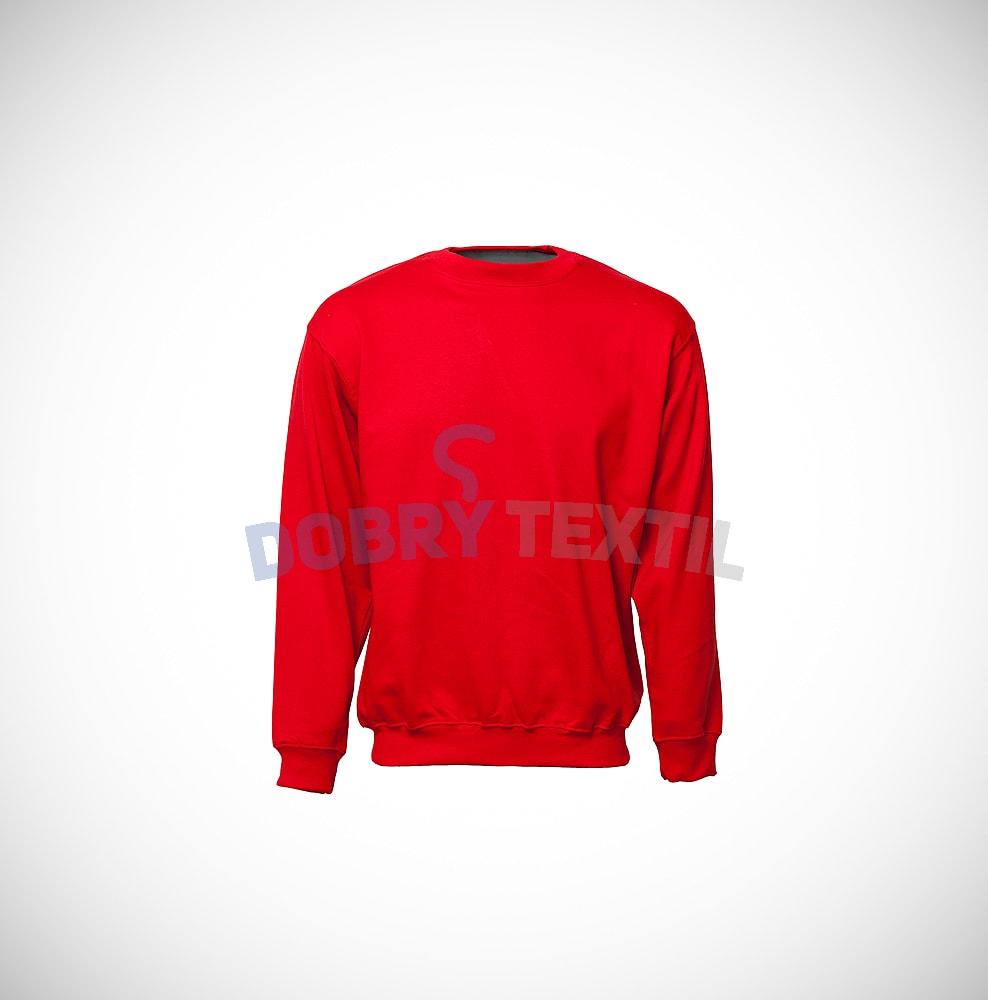 Mikina bez kapuce - Červená | XL