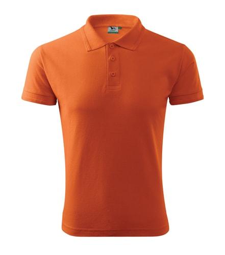 Pánská polokošile Pique Polo - Oranžová | L