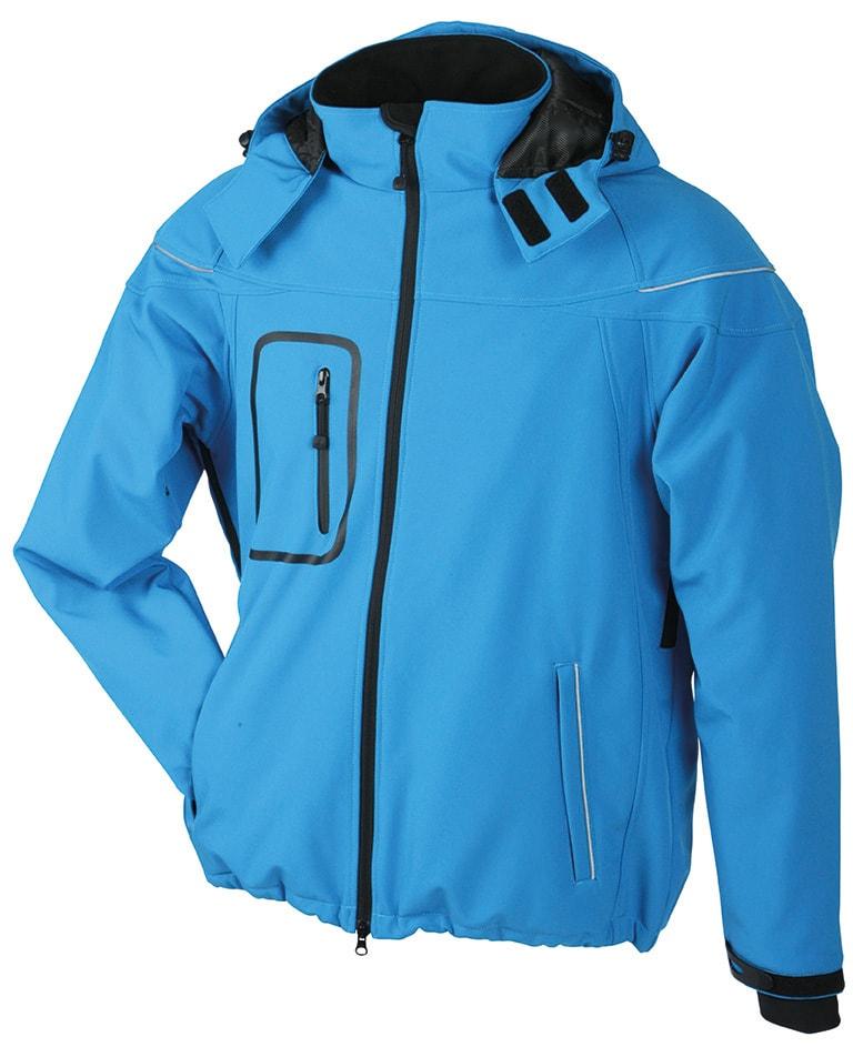 Zimní pánská softshellová bunda JN1000 - Aqua | XXXL