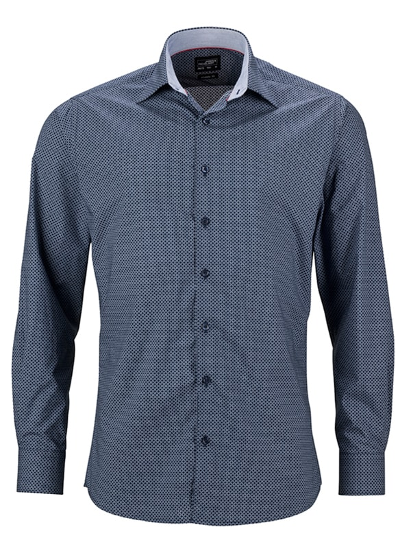 Pánská luxusní košile Diamonds JN670 - Tmavě modro-bílá | XXXL