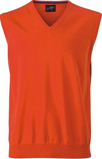 Pánský svetr bez rukávů JN657 - Tmavě oranžová | XL