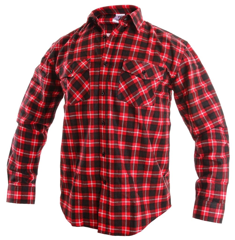 Pracovní flanelová košile TOM - Červená | 43/44