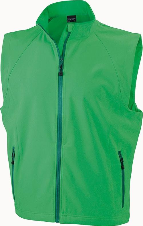 Pánská softshellová vesta JN1022 - Zelená | XXXL