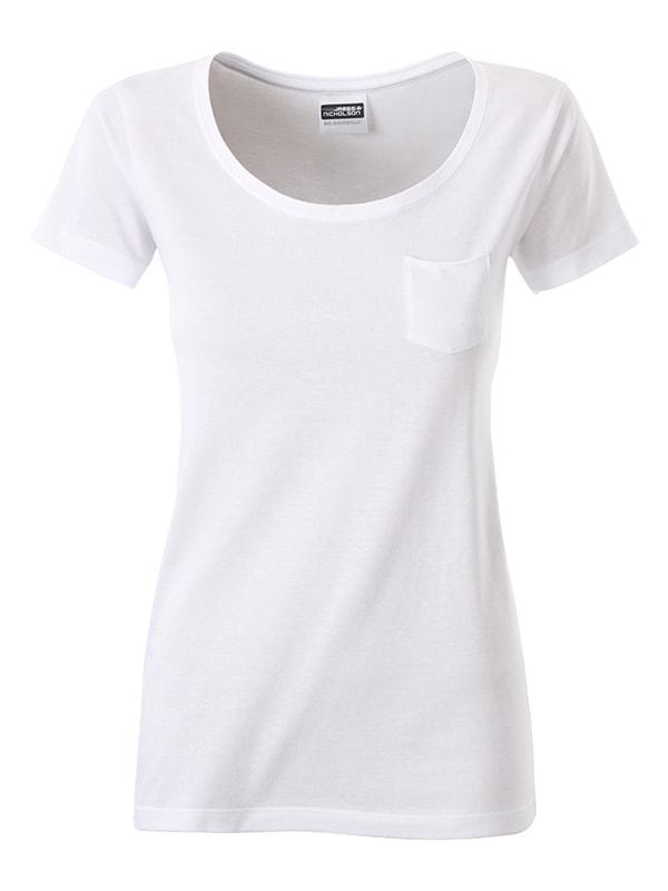 Dámské tričko z biobavlny 8003 - Bílá | M