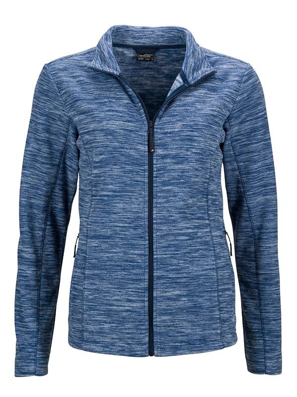 Dámská fleecová mikina JN769 - Modrý melír / tmavě modrá | L
