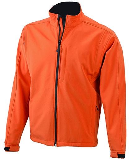 Pánská softshellová bunda JN135 - Oranžová | L