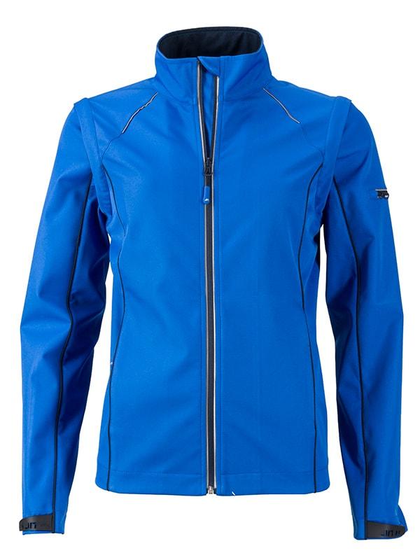 Dámská softshellová bunda 2v1 JN1121 - Světle modrá / tmavě modrá | S