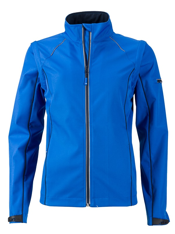 Dámská softshellová bunda 2v1 JN1121 - Světle modrá / tmavě modrá | L