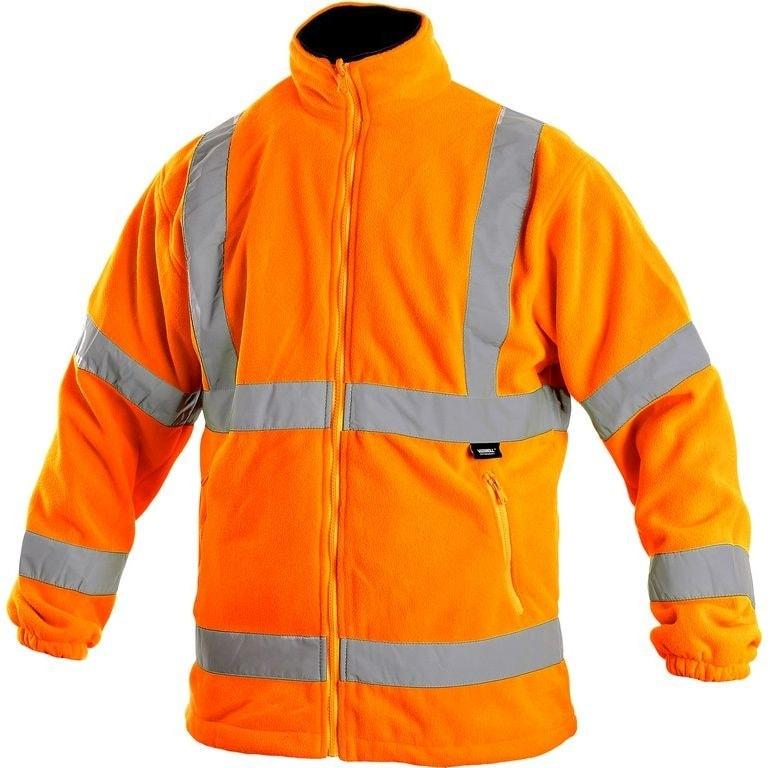 Pánská výstražná bunda PRESTON - Oranžová | L