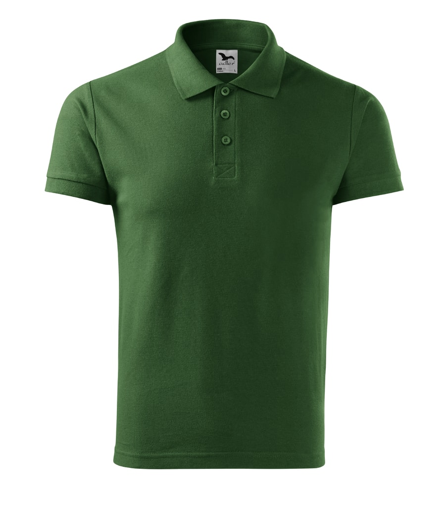 Pánská polokošile Cotton - Lahvově zelená   M